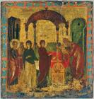 icon with the presentation of christ in the temple